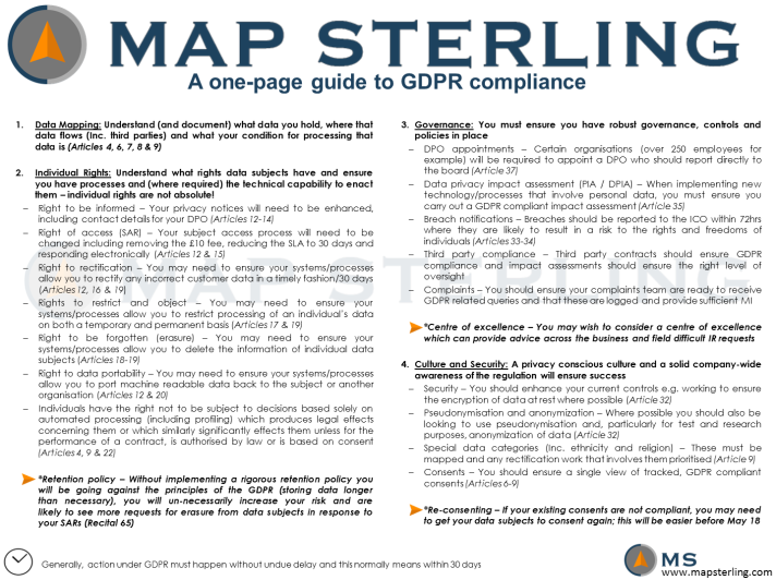 MapSterling GDPR One Pager